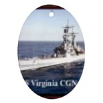 USS Virginia Pic Ornament (Oval)