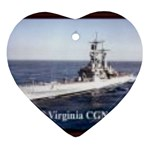 USS Virginia Pic Ornament (Heart)