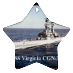 USS Virginia Pic Ornament (Star)