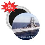 USS Virginia Pic 2.25  Magnet (10 pack)