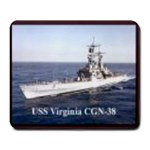 USS Virginia Pic Large Mousepad