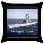 USS Virginia Pic Throw Pillow Case (Black)