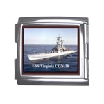 USS Virginia Pic Mega Link Italian Charm (18mm)