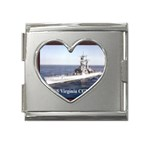 USS Virginia Pic Mega Link Heart Italian Charm (18mm)