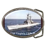 USS Virginia Pic Belt Buckle