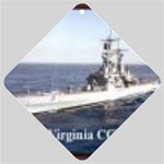 USS Virginia Pic Car Window Sign