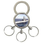 USS Virginia Pic 3-Ring Key Chain