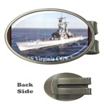USS Virginia Pic Money Clip (Oval)