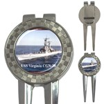 USS Virginia Pic 3-in-1 Golf Divot