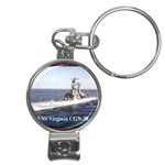 USS Virginia Pic Nail Clippers Key Chain