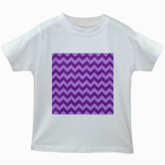 Background Fabric Violet Kids White T Shirts