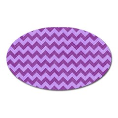 Background Fabric Violet Oval Magnet