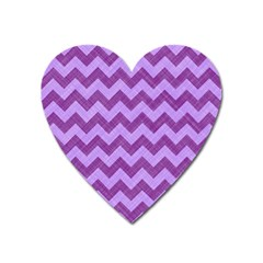 Background Fabric Violet Heart Magnet
