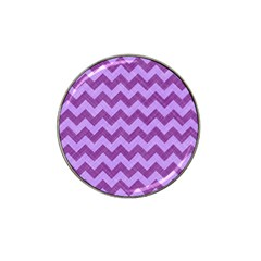 Background Fabric Violet Hat Clip Ball Marker (10 Pack)