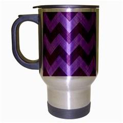 Background Fabric Violet Travel Mug (silver Gray)