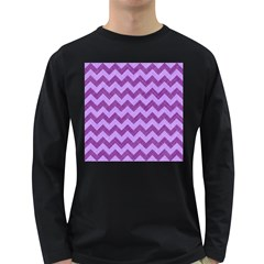 Background Fabric Violet Long Sleeve Dark T Shirts