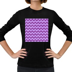 Background Fabric Violet Women s Long Sleeve Dark T Shirts