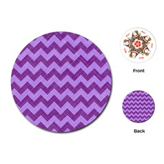 Background Fabric Violet Playing Cards (round)