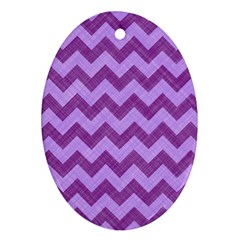 Background Fabric Violet Oval Ornament (two Sides)