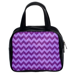 Background Fabric Violet Classic Handbags (2 Sides)