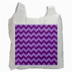 Background Fabric Violet Recycle Bag (one Side) by Nexatart