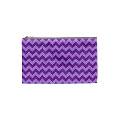 Background Fabric Violet Cosmetic Bag (small)  by Nexatart