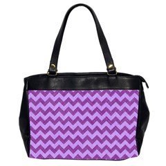 Background Fabric Violet Office Handbags (2 Sides)