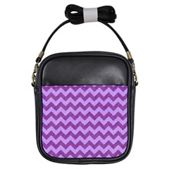 Background Fabric Violet Girls Sling Bags