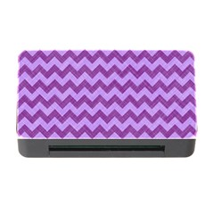 Background Fabric Violet Memory Card Reader With Cf