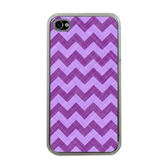 Background Fabric Violet Apple Iphone 4 Case (clear)