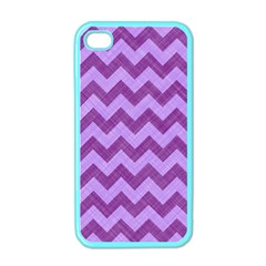 Background Fabric Violet Apple Iphone 4 Case (color)