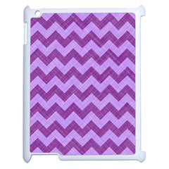 Background Fabric Violet Apple Ipad 2 Case (white)