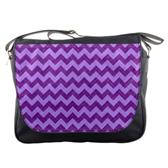 Background Fabric Violet Messenger Bags