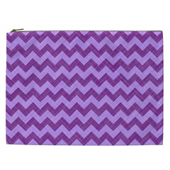 Background Fabric Violet Cosmetic Bag (xxl)