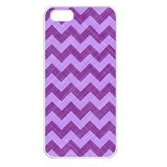 Background Fabric Violet Apple Iphone 5 Seamless Case (white)