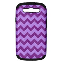 Background Fabric Violet Samsung Galaxy S Iii Hardshell Case (pc+silicone)