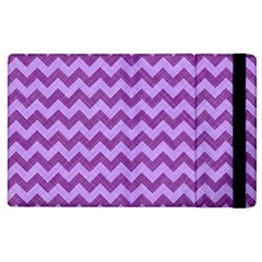 Background Fabric Violet Apple Ipad 2 Flip Case by Nexatart