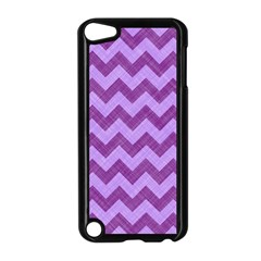 Background Fabric Violet Apple Ipod Touch 5 Case (black)