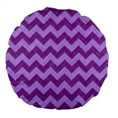 Background Fabric Violet Large 18  Premium Round Cushions