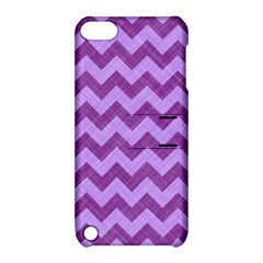 Background Fabric Violet Apple Ipod Touch 5 Hardshell Case With Stand