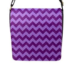 Background Fabric Violet Flap Messenger Bag (l)