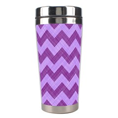 Background Fabric Violet Stainless Steel Travel Tumblers by Nexatart