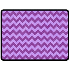 Background Fabric Violet Double Sided Fleece Blanket (large)