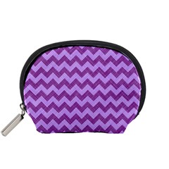 Background Fabric Violet Accessory Pouches (small)  by Nexatart