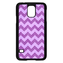Background Fabric Violet Samsung Galaxy S5 Case (black)