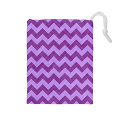 Background Fabric Violet Drawstring Pouches (large)