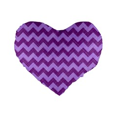 Background Fabric Violet Standard 16  Premium Flano Heart Shape Cushions
