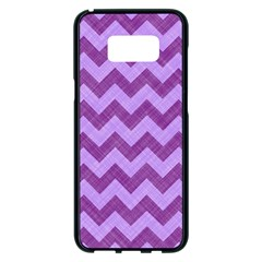 Background Fabric Violet Samsung Galaxy S8 Plus Black Seamless Case