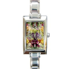 Background Art Abstract Watercolor Rectangle Italian Charm Watch by Nexatart