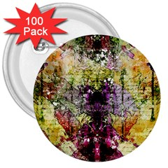 Background Art Abstract Watercolor 3  Buttons (100 Pack)